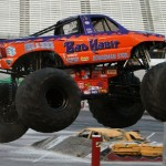 Practice Jump Feature of Media Day for Bad Habit World Record Monster Truck Jump